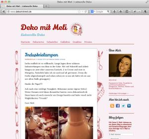 Deko mit Meli - Screenshot von Deko Blog